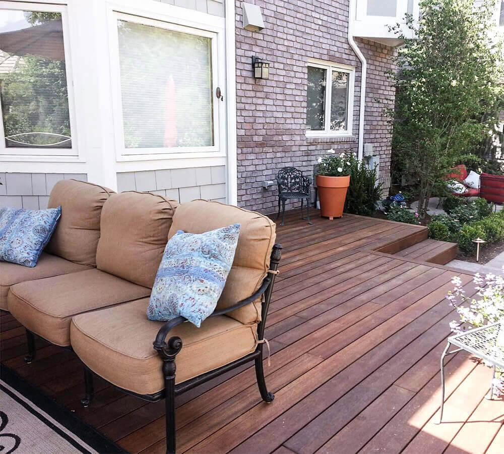 Natural hardwood deck